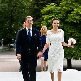 Gretos Skaraitienės/Žmonės.lt nuotr./Nerijus Numavičius ir Kaetana Leontjeva