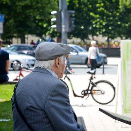 Viktorijos Savickos / 15min nuotr./Senas žmogus