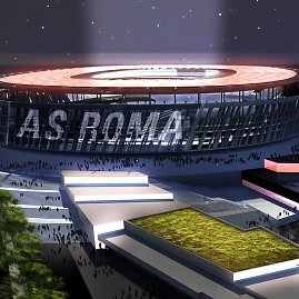 """forza27.com nuotr./Naujasis """"Roma"""" ekipos stadionas"""