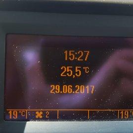 15min skaitytojo nuotr./Ketvirtadienio popietę Vilniuje temperatūra sparčiai kilo, po 15 val. termometrai rodė per 25 laipsnių Celsijaus karštį.