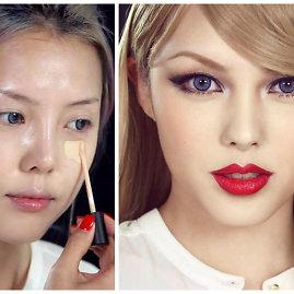 """Video kadrai ir """"Instagram""""/ponysmakeup nuotr./Taylor Swift įkvėptas makiažas"""