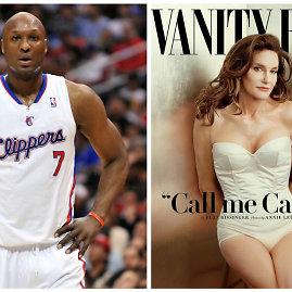 """Scanpix"" ir ""Vanity Fair"" nuotr./Lamaras Odomas ir Caitlyn Jenner"