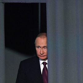 """AFP/""""Scanpix"""" nuotr./2016-ųjų Vladimiro Putino metinė spaudos konferencija"""