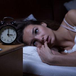 123RF.com nuotr./Moteris negali užmigti.