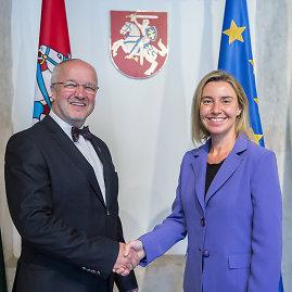 Alfredo Pliadžio nuotr./ES užsienio politikos vadovė Federica Mogherini lankosi Lietuvoje