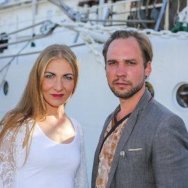 Vidmanto Balkūno / 15min nuotr./Jonas Sakalauskas su žmona Agne Sabulyte