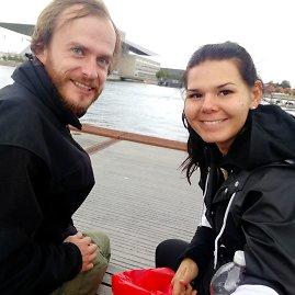 Monikos Svėrytės nuotr./Čia mudu su kartu keliavusiu bičiuliu Juliumi