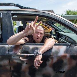 """""""Scanpix""""/""""RIA Novosti"""" nuotr./Separatistų lyderis Arsenijus Pavlovas-Motorola."""