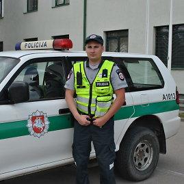 Alytaus policijos nuotr./Pareigūnas Romas Gritė