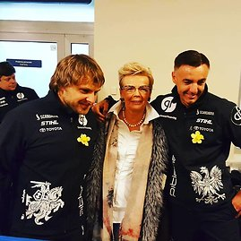 Žilvino Pekarsko / 15min nuotr./B.Vanagą ir S.Rozwadowskį pasitiko ir Sebastiano mama
