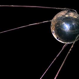 """Wikimedia commons iliustr./Pirmasis dirbtinis Žemės palydovas """"Sputnik 1"""""""