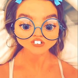 "Scanpix nuotr./""Snapchat"" filtras (Perrie Edwards)"