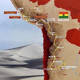 """AFP/""""Scanpix"""" nuotr./""""Dakaras 2018"""": trasų žemėlapis"""