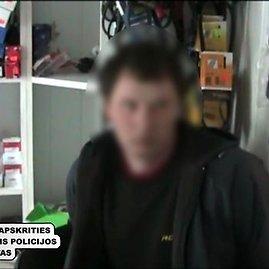 Kadras iš policijos filmuotos medžiagos/Įtariamasis prekeivis žmonėmis