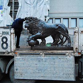 Artūro Užgalio nuotr./Liūtų skulptūros