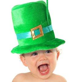 123rf.com nuotr./Kūdikis su Šv. Patriko dienos kepure