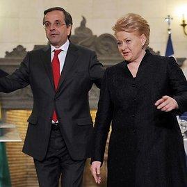Dalia Grybauskaitė perdavė ES vairą Graikijos ministrui pirmininkui Antonio Samarui
