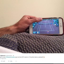 U.S. Men's Clay Court Championship nuotr./Novakas Džokovičius
