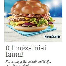 McDonald's nuotr./Rio mėsainis