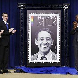 Harvey Milkui skirto pašto ženklo pristatymas Baltuosiuose rūmuose