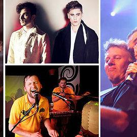 "Žmonės.lt nuotr./Festivalio ""Galapagai 2013"" (iš kairės): ""Lyapis Trubetskoy"", ""Instrumenti"", ""Golden Parazyth"", ""Antis"""