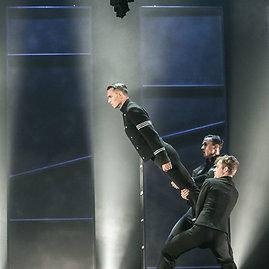 """Viganto Ovadnevo/Žmonės.lt nuotr./Anželikos Cholinos spektaklio """"Otelas"""" pristatymo akimirka"""