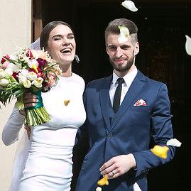 Gretos Skaraitienės/Žmonės.lt nuotr./Justino Jaručio ir Justinos Čėsnaitės vestuvės