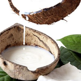 Fotolia nuotr./Iš kokosų minkštimo išspaustas saldaus skonio kokosų pienas plačiai vartojamas Rytų kraštų ir vegetariškoje virtuvėje.