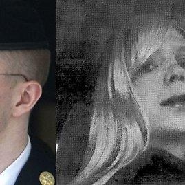 """""""Reuters""""/""""Scanpix"""" nuotr./Kairėje – Bradley Manningas teisme 2013 metais. Dešinėje – nuotrauka iš 2010 metų, kai jis apsirengęs kaip moteris"""