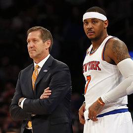 """Reuters""/""Scanpix"" nuotr./Carmelo Anthony ir Jeffas Hornacekas"