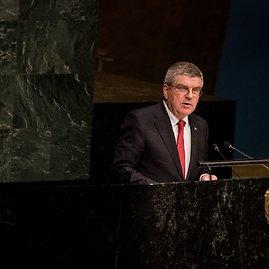 """AFP/""""Scanpix"""" nuotr./Thomas Bachas Jungtinėse tautose"""