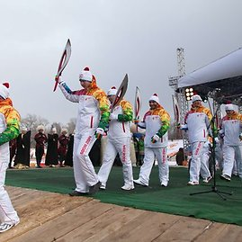 Sočio žaidynių olimpinės ugnies estefetės nešėjai