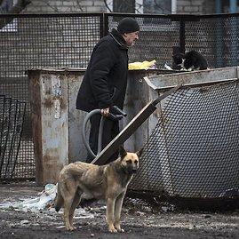 """Scanpix""/AP nuotr./Avdijivko mieste siaučia skurdas"