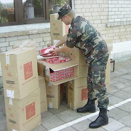 VSAT nuotr./2004 metais prie Baltarusijos sienos sulaikyta didelė kontrabandos siunta