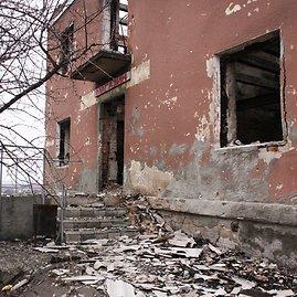 D.Pancerovo nuotr./Sugriauta parduotuvė Semenovkoje