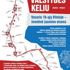 """Organizatorių žemėlapis/Eisenos """"Lietuvos valstybingumo keliu"""" žemėlapis"""