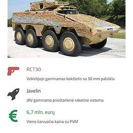 """Pasiūlymas dėl pėstininkų kovos mašinos """"Boxer"""""""