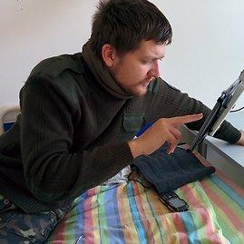 Dovydo Pancerovo nuotr./Lietuvoje gydomas V.Trofimenka buvo sužeistas prie Donecko oro uosto.