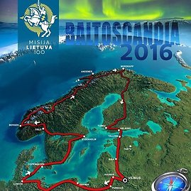 """Baltoscandia 2016"" ekspedicijos maršruto planas"