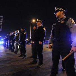 """""""Scanpix""""/AP nuotr./Protestai Čikagoje"""