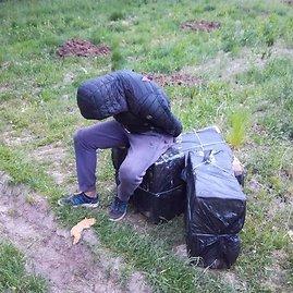 VSAT nuotr./Sulaikytas kontrabandininkas