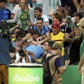 """""""Scanpix"""" nuotr./Nuostabiame olimpiados pusfinalyje Juanas Martinas del Potro įveikė Rafaelį Nadalį"""