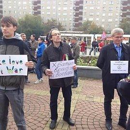 Maršo dalyviai Sank Peterburge