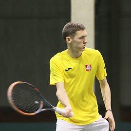 Alvydo Januševičiaus nuotr./Tadas Babelis – Antso Rakotondramanga, Davis Cup