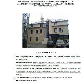 15min nuotr./Vivulskio g. 13 pastato rekonstrukcijos darbų pirkime pateikta projektavimo užduotis