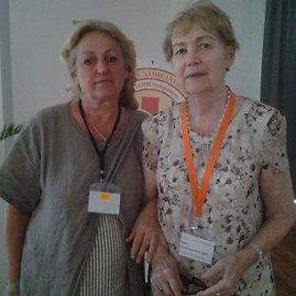 Iš kairės – hirudoterapeutė Vanda Kramarauskienė tarptautiniame hirudologų simpoziume Bulgarijoje rugsėjo 1–5 dienomis.