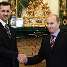 """""""Scanpix""""/AP nuotr./Basharas Assadas ir Vladimiras Putinas"""