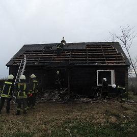 Alytaus apskrities vyriausiojo policijos komisariato nuotr./Gaisras Mančiūnų kaime