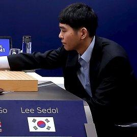 "Scanpix nuotr./ Lee Se-dolas žaiddžia prieš ""AlphaGo"""