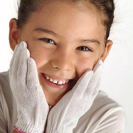 Gydomojo šilkoDermasilk pirštinės alergiškiems
